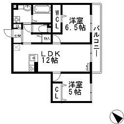(仮称)D-room玉串町西[302号室号室]の間取り