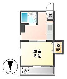 第33プロスパー志賀本通[3階]の間取り