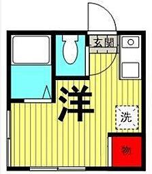 東京都台東区谷中3丁目の賃貸アパートの間取り