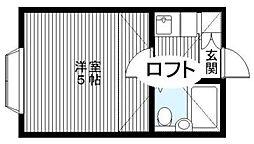 東京都中野区上高田2丁目の賃貸アパートの間取り