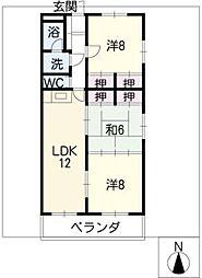 ハイゼ浅井[2階]の間取り