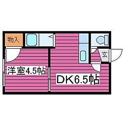 北海道札幌市東区北三十五条東17丁目の賃貸アパートの間取り