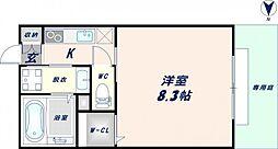 大阪府東大阪市弥生町の賃貸アパートの間取り