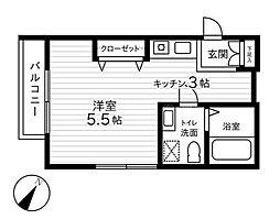 ピトレスク[2階]の間取り