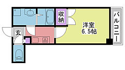 ディアさくら夙川[S502号室]の間取り