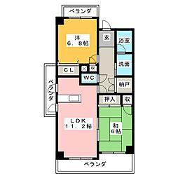 MKタワービレッジII[4階]の間取り