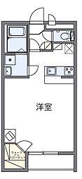 埼玉県吉川市高富1の賃貸マンションの間取り