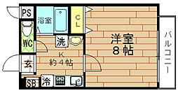 ROYAL COURT(ロイヤルコート)[9階]の間取り
