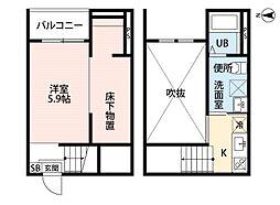 Vivienda 名古屋 (ビビエンダナゴヤ)[1階]の間取り