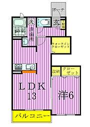 メゾン・ド・ルピネ[1階]の間取り