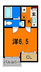 siro大巌寺[202号室]の間取り