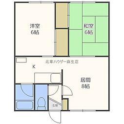大新第2マンション[2階]の間取り
