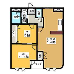 クラスティーナ761[2階]の間取り