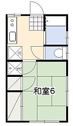 今井アパート[201号室]の間取り