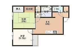 ヤマトコーポ[3階]の間取り