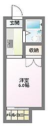 清竜荘[108号室]の間取り