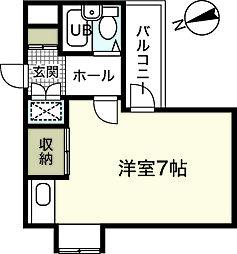アーバン三篠[6階]の間取り