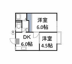 Cache-Cache House[1階]の間取り