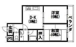 ノアコート森田[303号室]の間取り