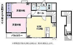 ラ・ネージュ3番館[2階]の間取り