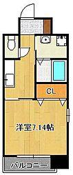 (仮称)折尾4丁目賃貸マンション 7階1Kの間取り