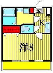 クレフラスト松戸吉井町[2階]の間取り