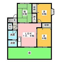 APTフレマリール[1階]の間取り