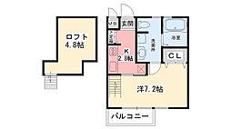 レジデンス甲子園口[2階]の間取り
