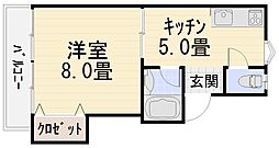 円光寺サンハイツ[102号室号室]の間取り