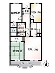 モンティクロ弐番館(モンティクロニバンカン)[2階]の間取り