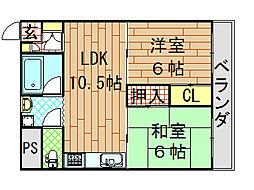 エルメゾン小阪[503号室]の間取り