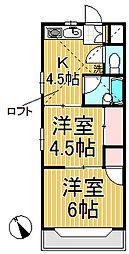 ジュネパレス鎌倉第3[104号室]の間取り