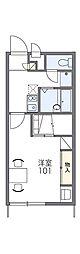 レオパレスTsushima[1階]の間取り