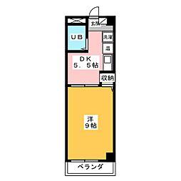 藤井マンション高倉[3階]の間取り