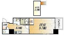 広島県広島市中区大手町2丁目の賃貸マンションの間取り