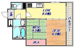 田中ハウス[105号室]の間取り