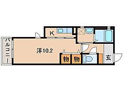 ジュリアード松江[2階]の間取り
