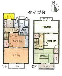 [タウンハウス] 千葉県千葉市稲毛区黒砂台1丁目 の賃貸【/】の間取り