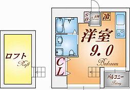 三國クリエート板宿[5階]の間取り