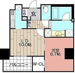 (仮)博多駅東3丁目プロジェクト[607号室]の間取り