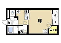 奈良県大和郡山市九条平野町の賃貸マンションの間取り