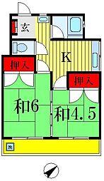 高橋マンション[607号室]の間取り