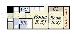 レジュールアッシュウエストレジスET203[3階]の間取り