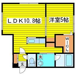 札幌市営南北線 北18条駅 徒歩8分の賃貸マンション 1階1LDKの間取り