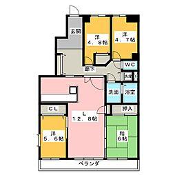 ラビデンス桑名駅東[10階]の間取り