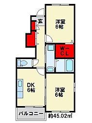 グレイスフル高蔵Ⅲ[1階]の間取り