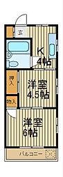 川口平和マンション[3-D号室]の間取り
