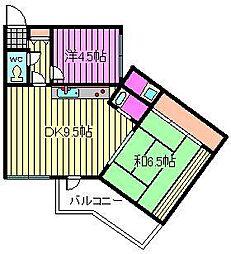 永井ハウス[303号室]の間取り