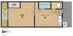 第6ちどり荘[201号室]の間取り