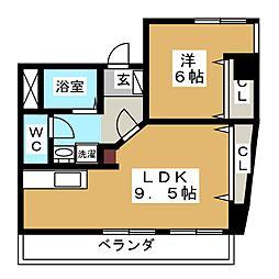 上杉KKビル[5階]の間取り